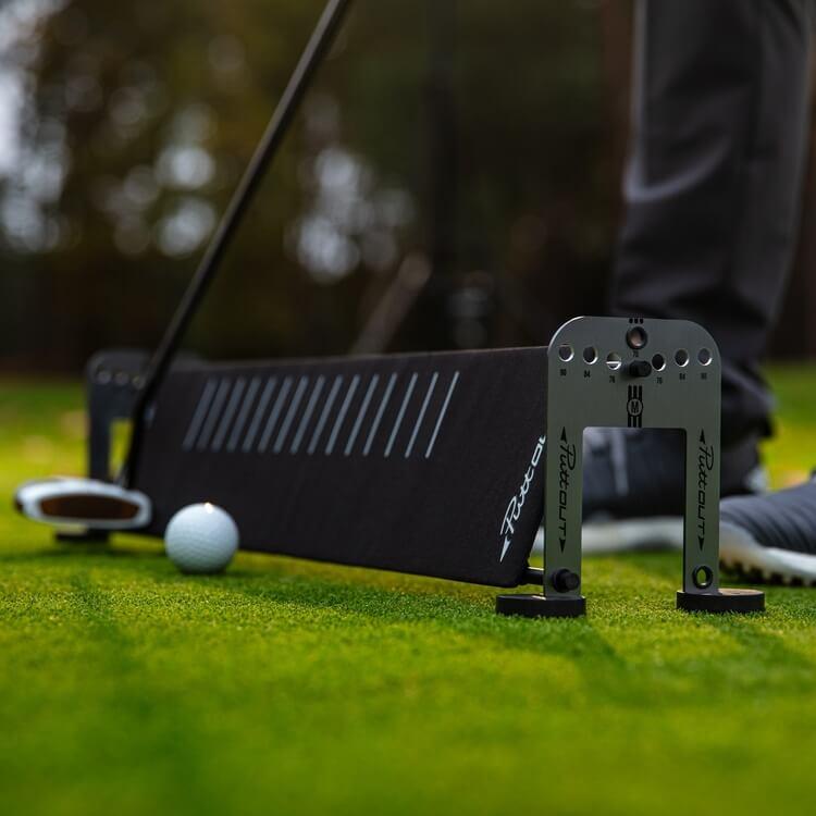 PuttOUT Alignment Sticks and Gates Sticks Golf Course Close Up