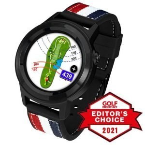 GOLFBUDDY aim W11 GPS Golf Watch Editors Choice Award