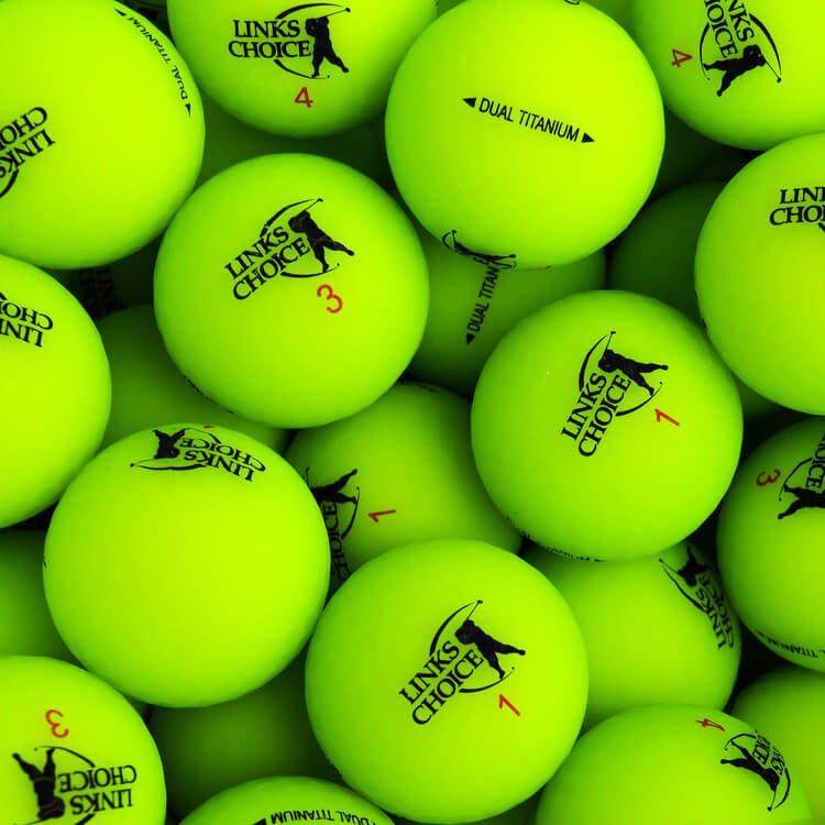 Links Choice Golf Balls Matte Optic Green
