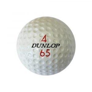 Dunlop 65 Golf Ball Front