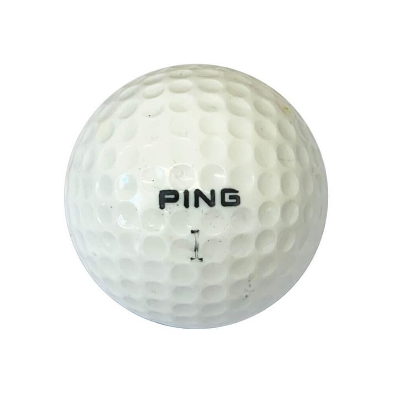 Ping Blue & White Golf Ball Front