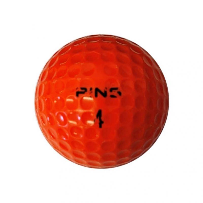 Ping Orange & White Golf Ball Back