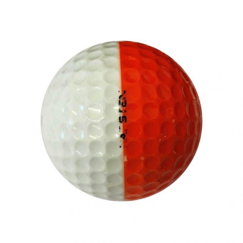 Ping Orange & White Golf Ball Right Side