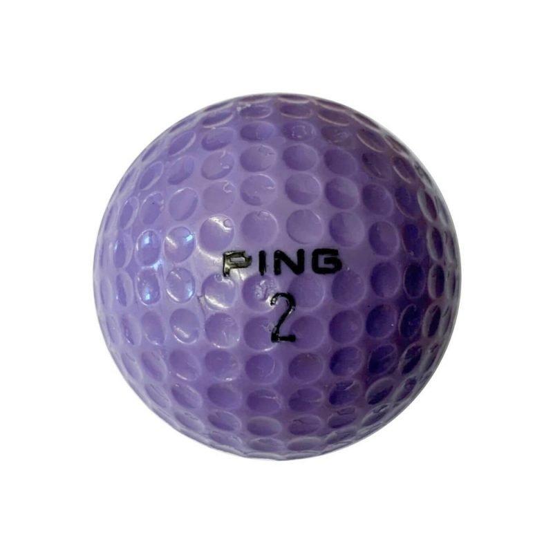 Ping Purple & White Golf Ball Back