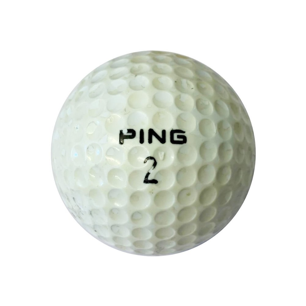 Ping Purple and White golf ball
