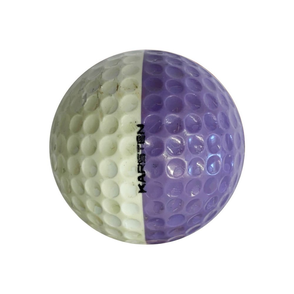 Ping Purple & White Golf Ball Right Side