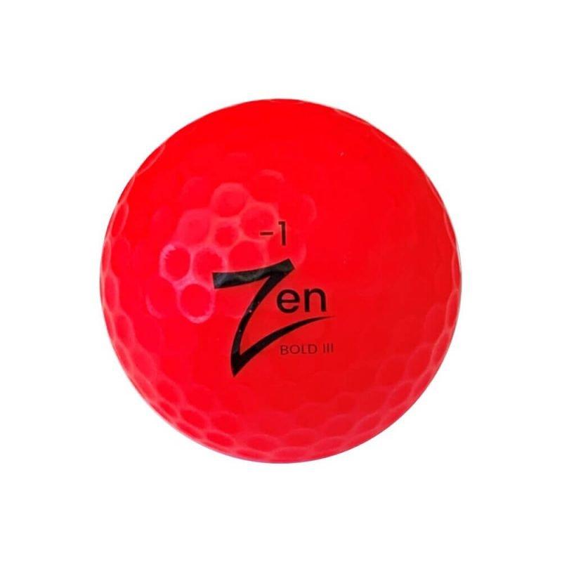 Zen Bold III Red Golf Ball Front