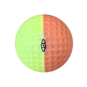 Ping Golf Ball Peach and Yellow Left Side