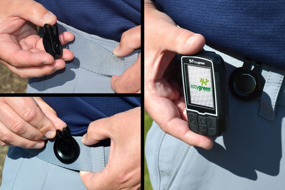 Easygreen Handheld GPS Device Magnetic Clip Lifestyle