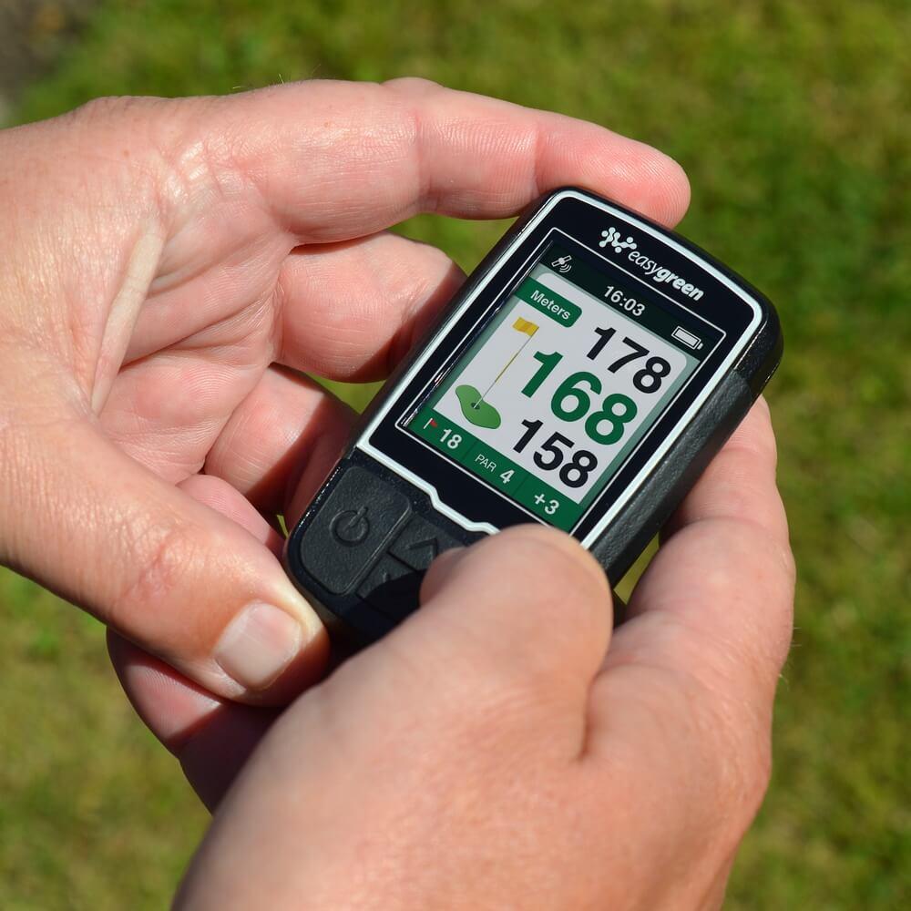 Easygreen Handheld GPS Device in hands