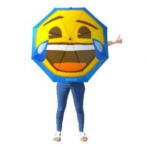 Emoji Crying with Laughter Compact Umbrella Person