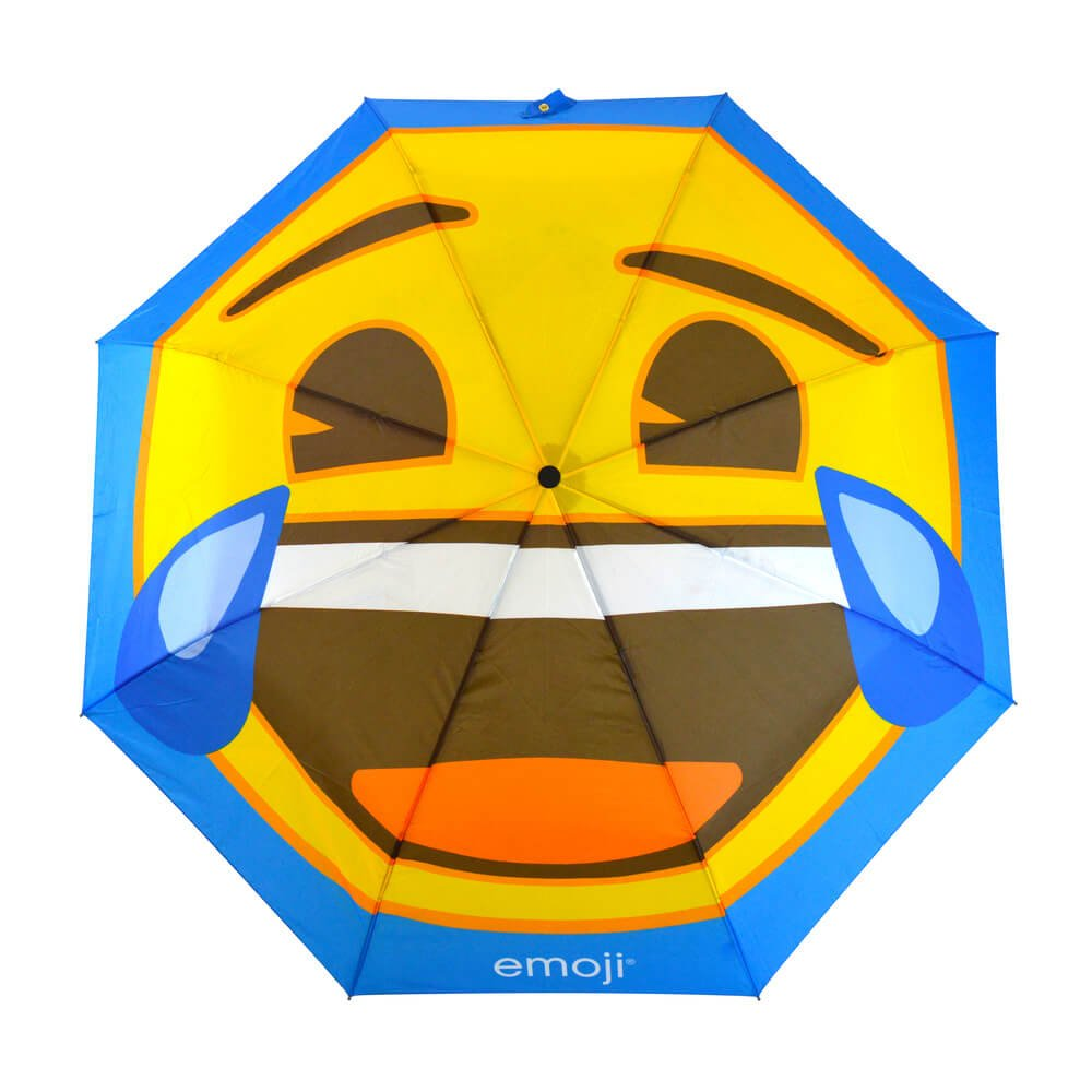 Emoji Crying with Laughter Compact Umbrella Top