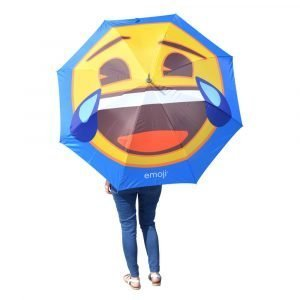 Emoji Crying with Laughter Umbrella Person