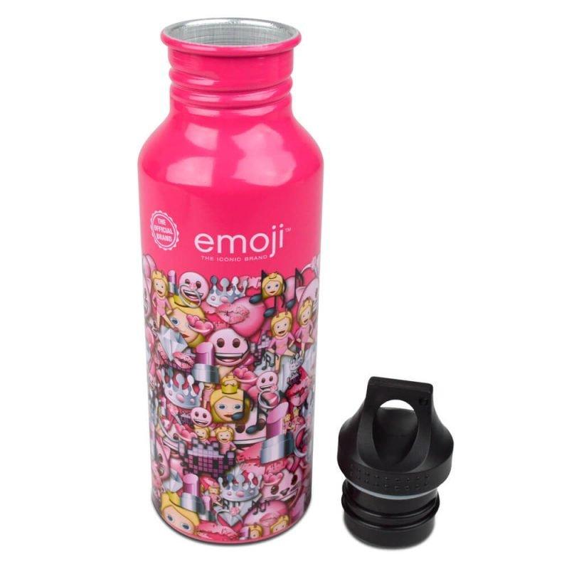 Emoji Pink Pattern Water Bottle