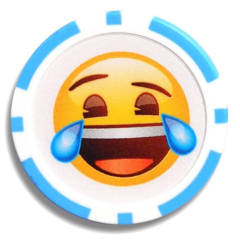 Emoji Poker Chip Ball Markers Crying with Laughter