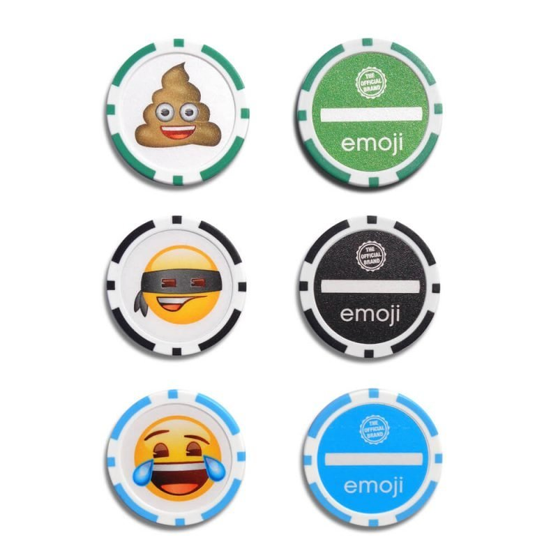 Emoji Poker Chip Ball Markers Front & Back