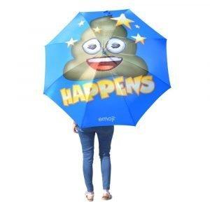 Emoji Poop Happens Umbrella Person