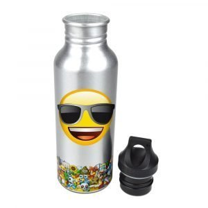 Emoji Silver Sunglasses Water Bottle