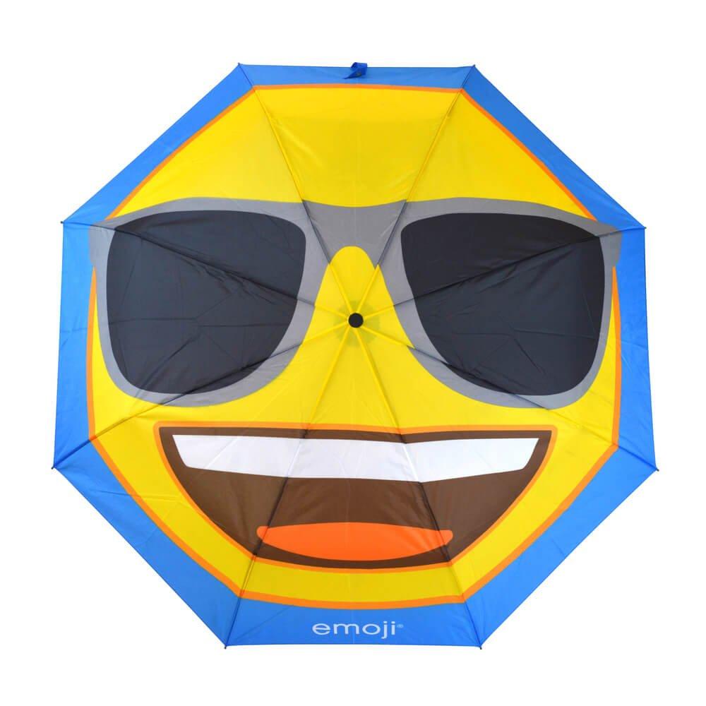 Emoji Sunglasses Compact Umbrella Top