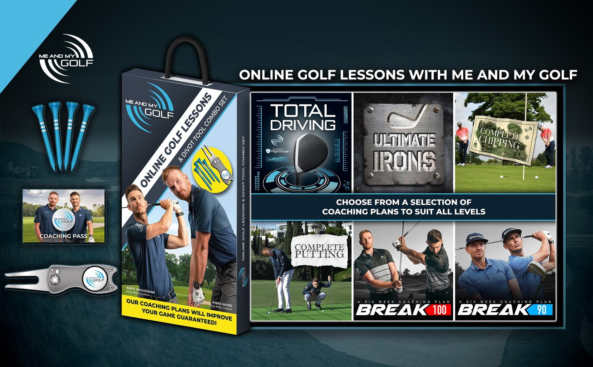 Me and My Golf Coaching Plans & Gift Pack