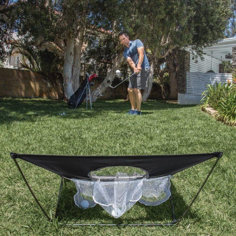 SKLZ Quickster Chipping Net Outdoors Behind