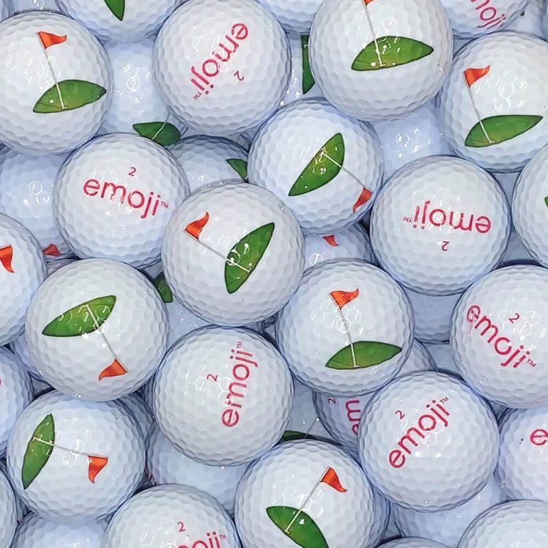Emoji Golf Flag Golf Balls